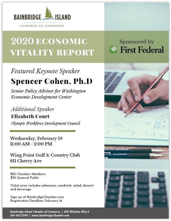 2020 Economic Vitality Report Poster