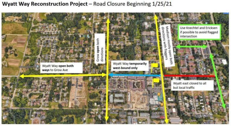 Wyatt Way Reconstruction Project Map