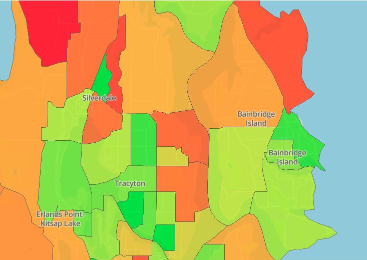 Kitsap County 2020 Census Tract Map