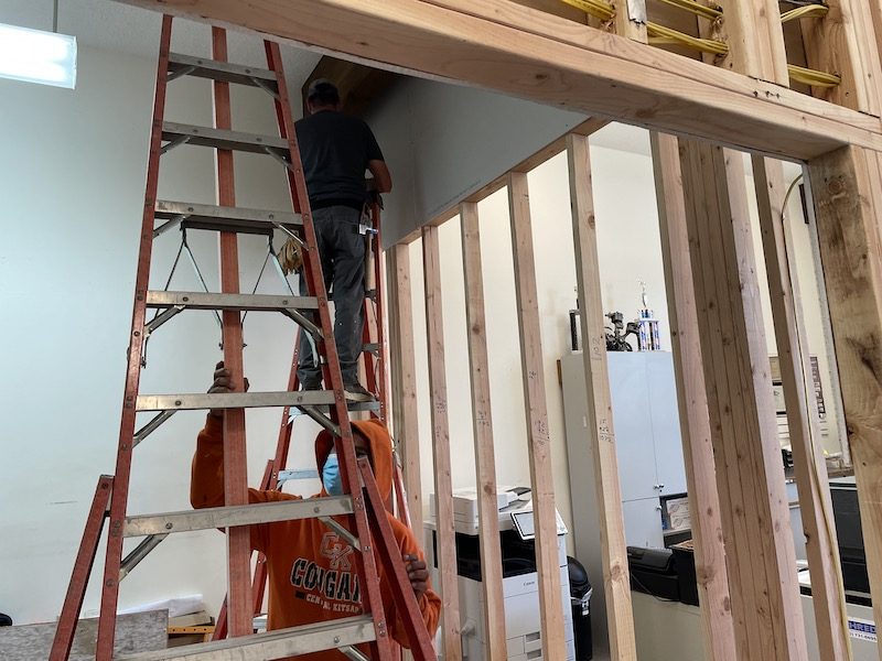 Bainbridge Chamber Renovation - Drywall